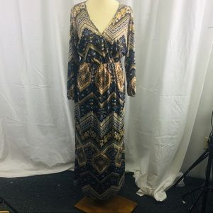 Long Dress with wrap front